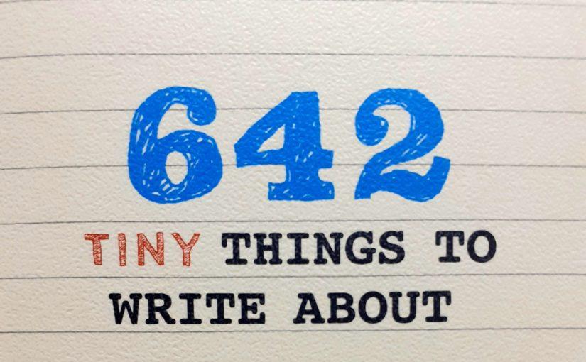 642 tiny things to write about – Il frigorifero