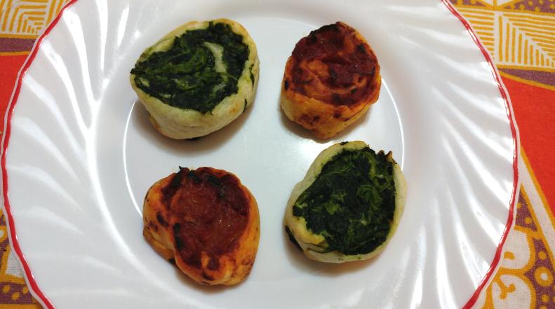"""VITA DA VEGETARIANA – Le ricette di Luca & Chiara: """"Girelle ricotta & spinaci, pomodoro & peperoni"""""""