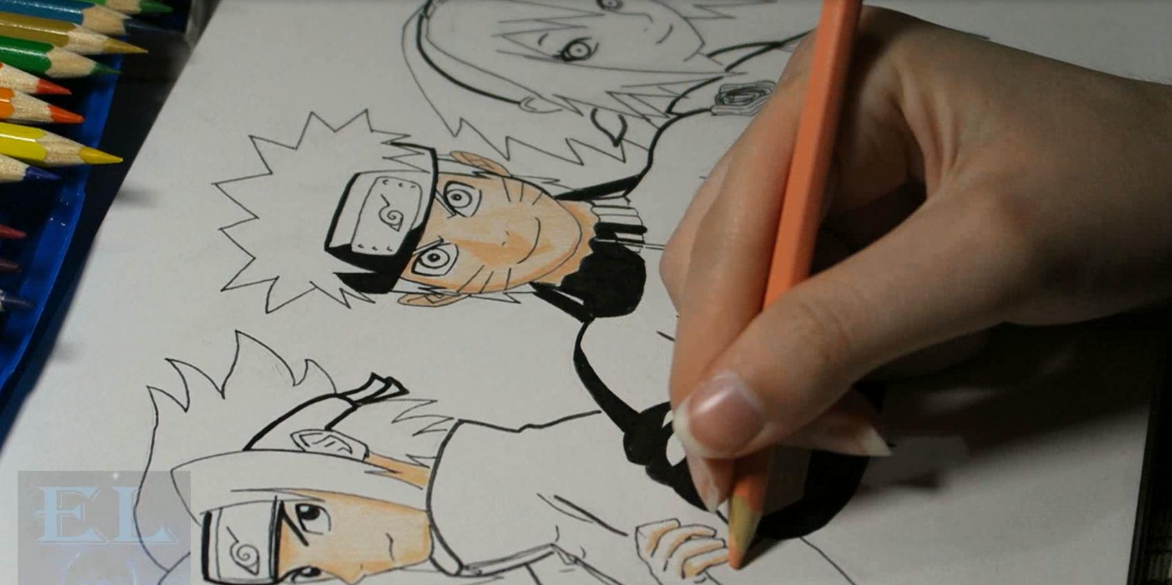 Speed Art: Naruto, Sasuke e Sakura